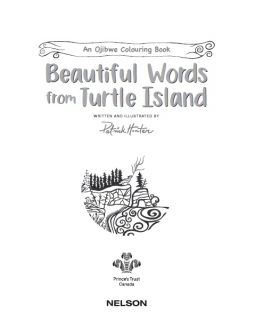 Beautiful Words from Turtle Island Colouring Book cover page by Patrick Hunter