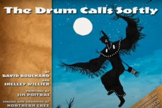 """'The Drum Calls Softly"""" book cover by David Bouchard"""